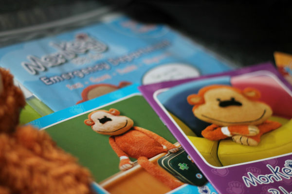 monkey wellness resources for children going to hospital