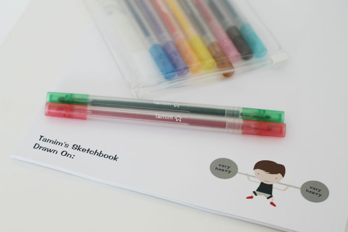 personalised colouring supplies