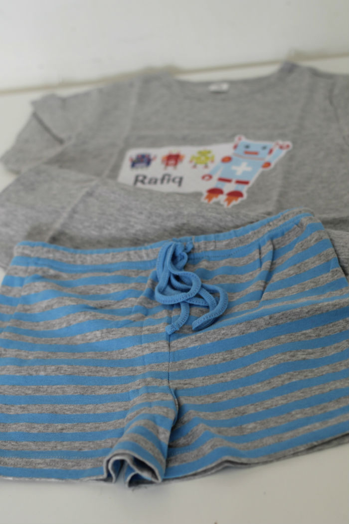 children's personalised pyjama set from Stuck on You