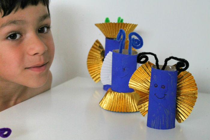 toilet roll butterfly crafts