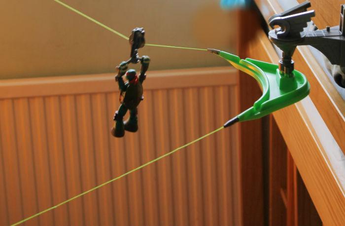 teenage mutant ninja turtles zipline zline playset