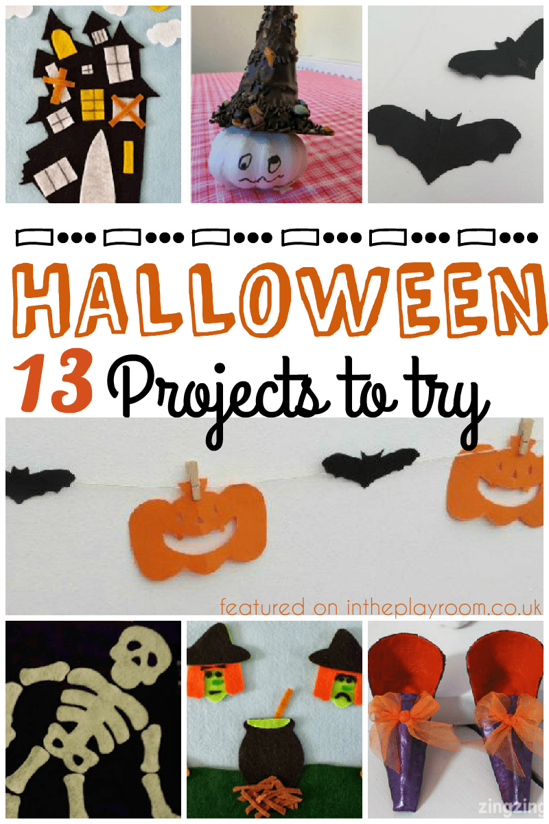 13 Halloween projects to try, with halloween crafts for kids, halloween felt boards, and halloween recipes