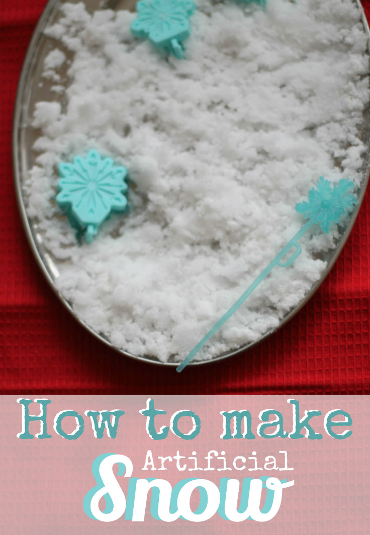 How to make pretend snow science experiment for kids, this stuff is great and you can use it for sensory play once you're done making! So cool