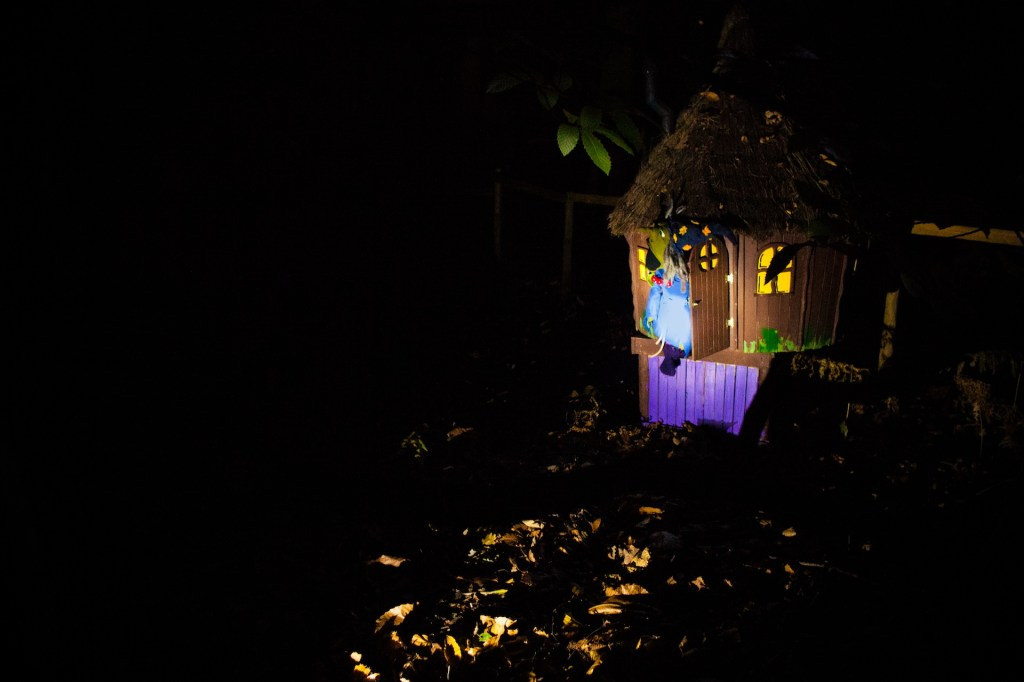 glorious glowing lantern parade at bewilderwood