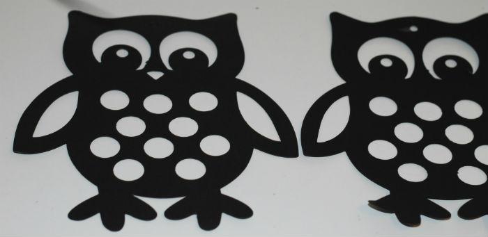 making an owl sun catcher
