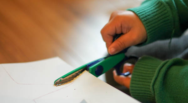 how to make a star garland step 2