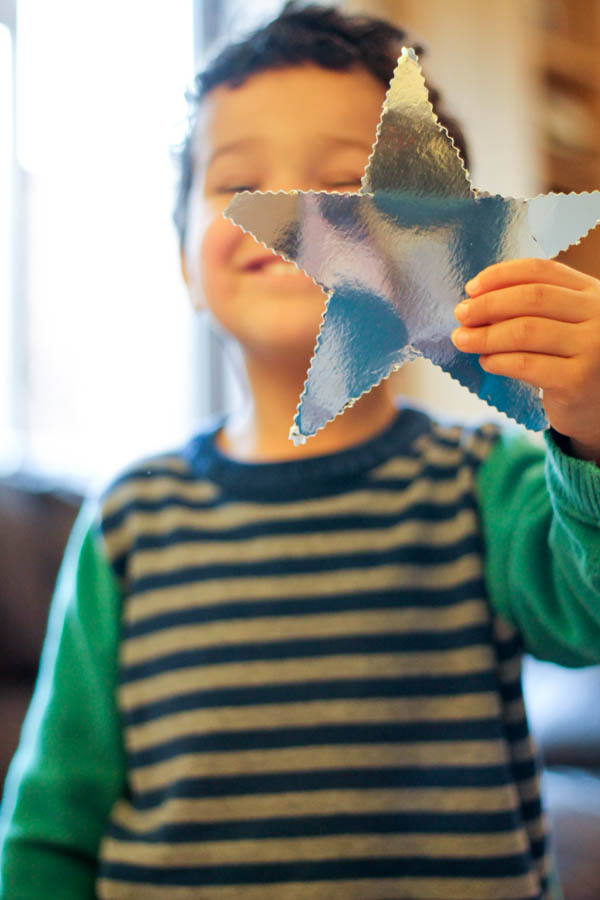 how to make a star garland step 3