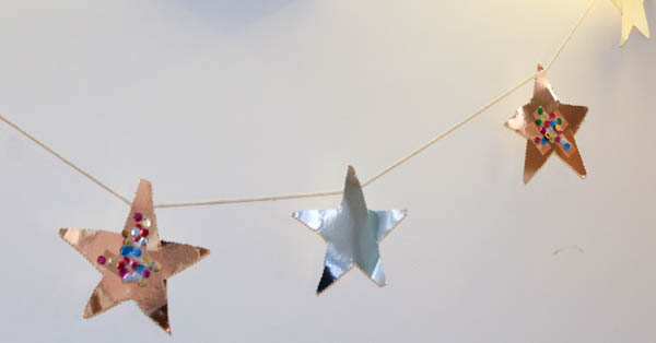 how to make a star garland step 7