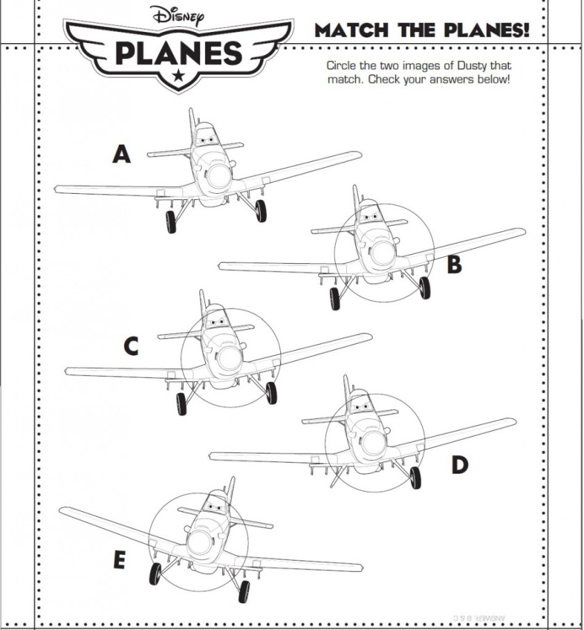 Planes 2 Match the Planes