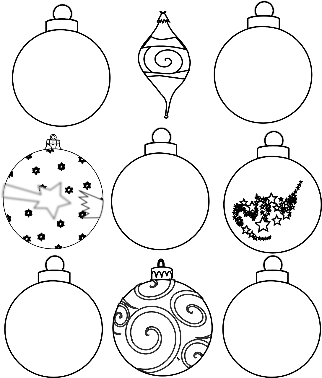 photo regarding Ornaments Printable referred to as Shade and Layout your particular Xmas Ornaments Printables