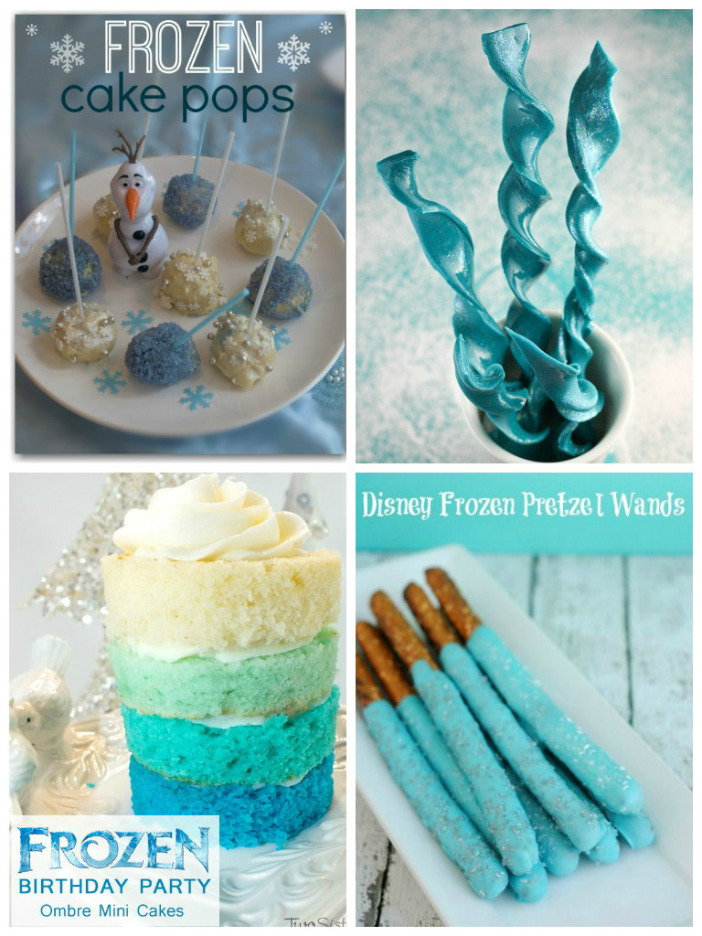 frozen snacks and treats for a Frozen party
