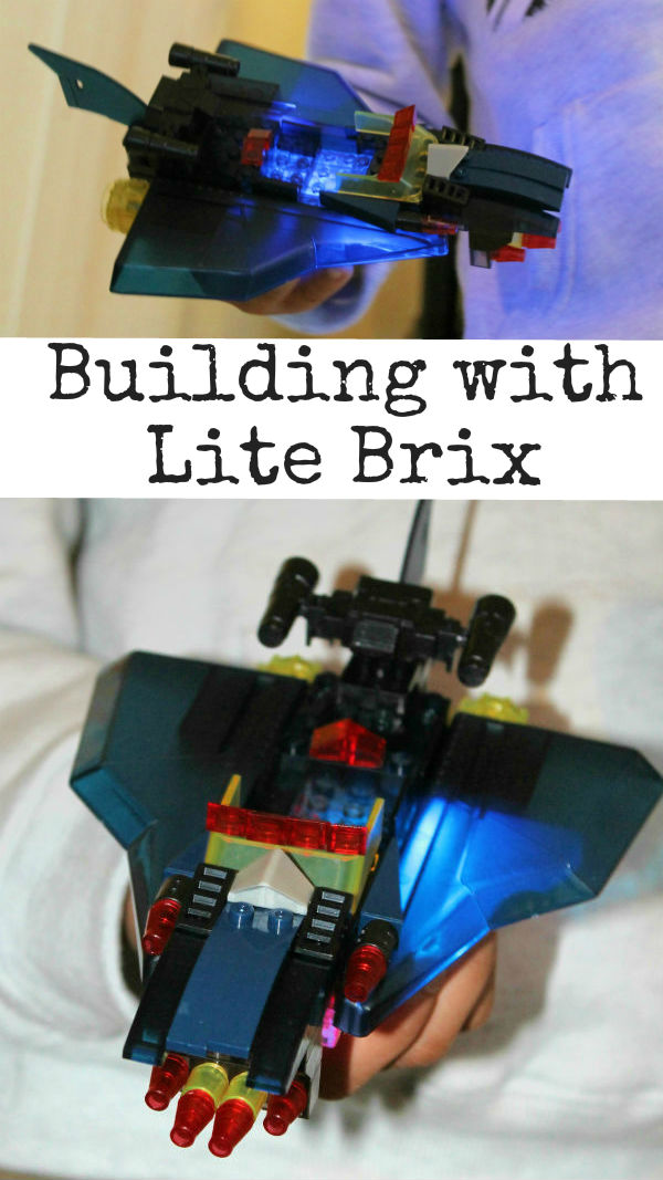 Building with Lite Brix. These awesome bricks are compatible with Lego, and they light up and flash - so cool! Adds an extra visual sensory element to Lego play