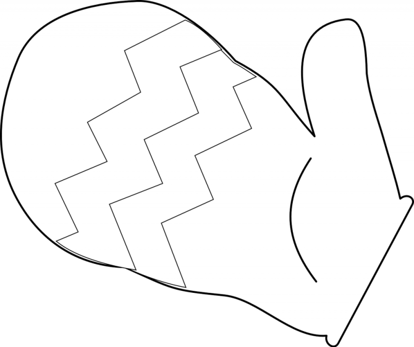 free printable winter mittens template