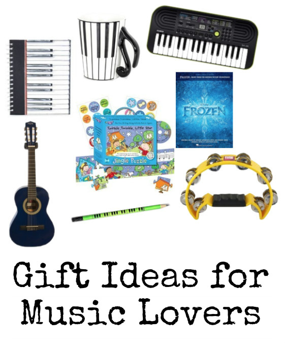 Gift Ideas for Music Lovers. Music themed gift guide