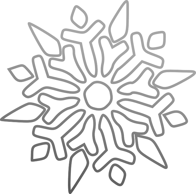 snowflake symmetry colouring sheet