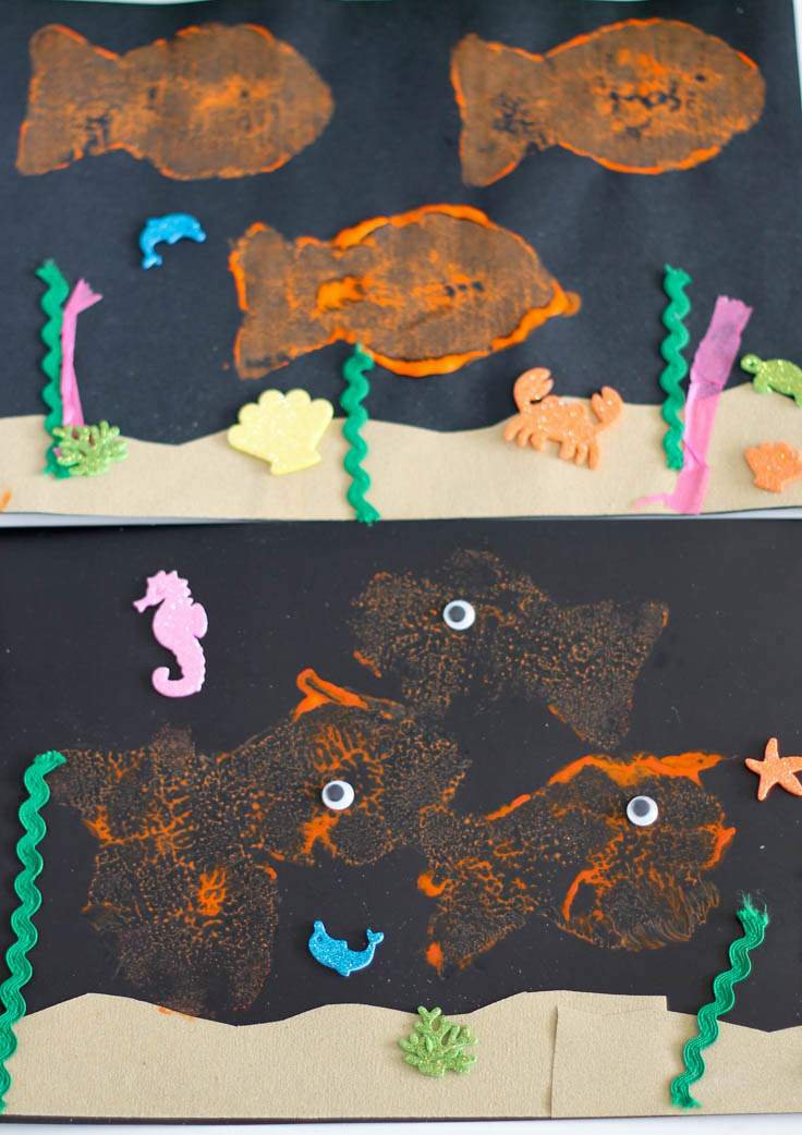 Easy under the sea pictures for toddlers to make