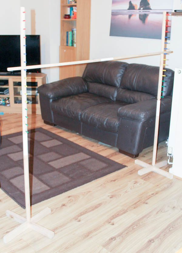 Limbo game set up in the living room
