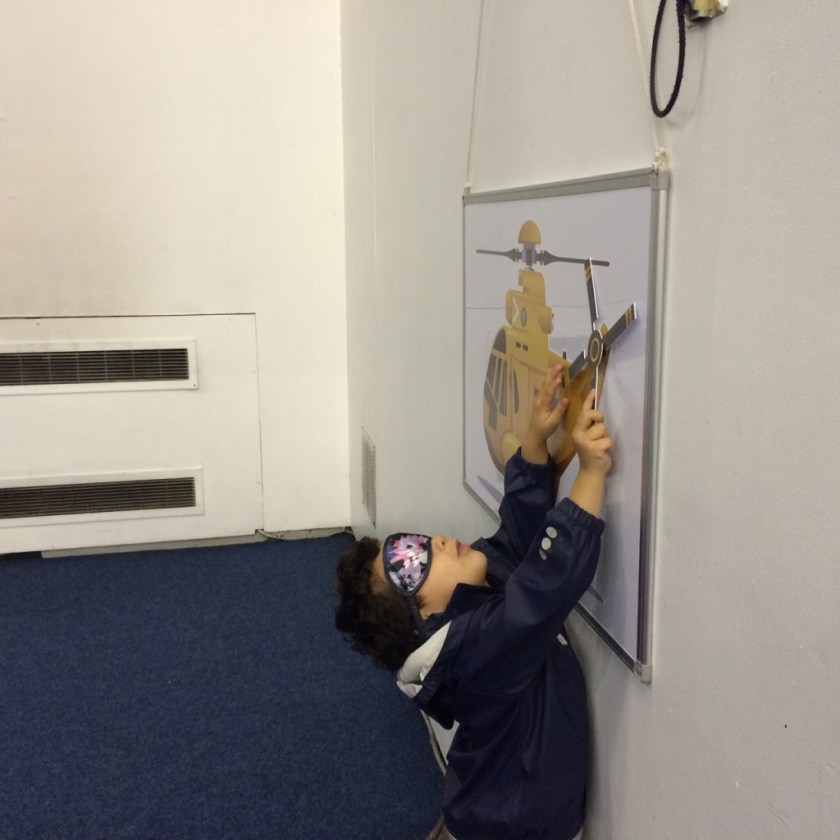 pin the propellor on the helicopter
