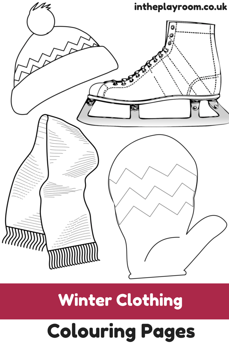 Winter Clothing Colouring Pages In The Playroom