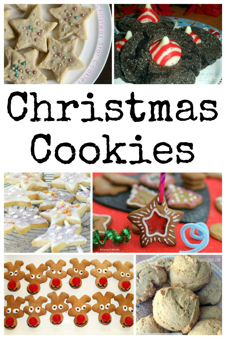 Great Christmas cookie recipes for the holidays - fun ideas that kids can help to make including star cookies and reindeer cookies