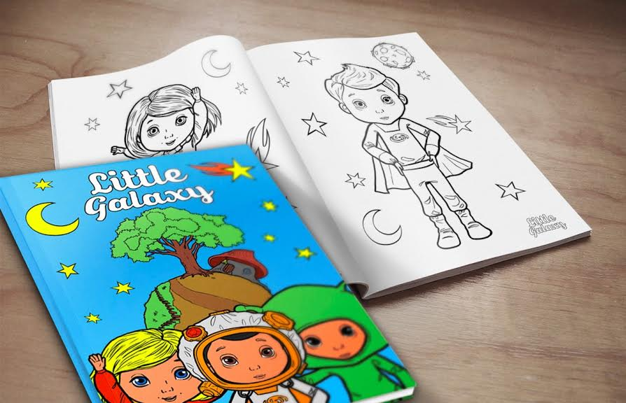 little galaxy colouring books