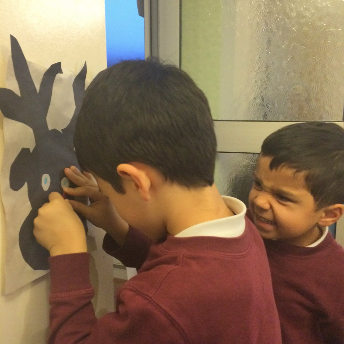 playing pin the nose on rudolph