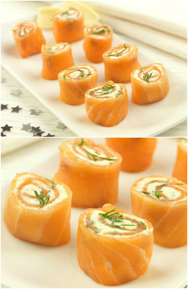 Party food recipes salmon pinwheels in the playroom for Easy food ideas for parties