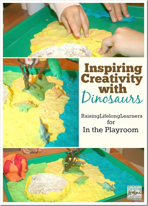 Inspiring Creativity with Dinosaur playdough