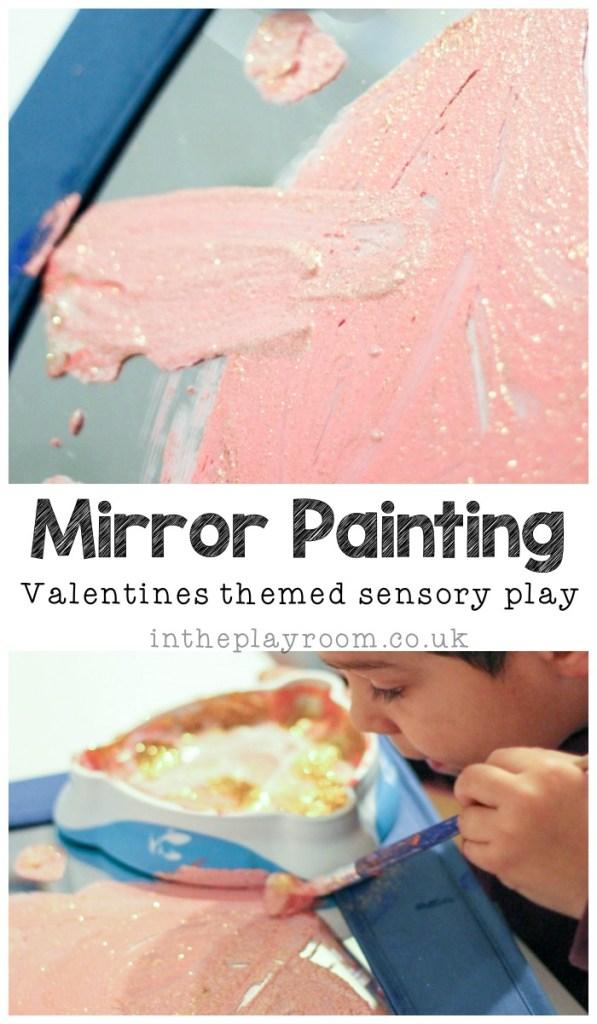 sensory mirror painting