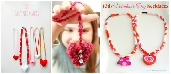 Valentines necklaces that kids can make