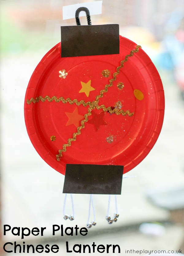 paper plate chinese lantern craft for kids of all ages to learn about Chinese New Year.