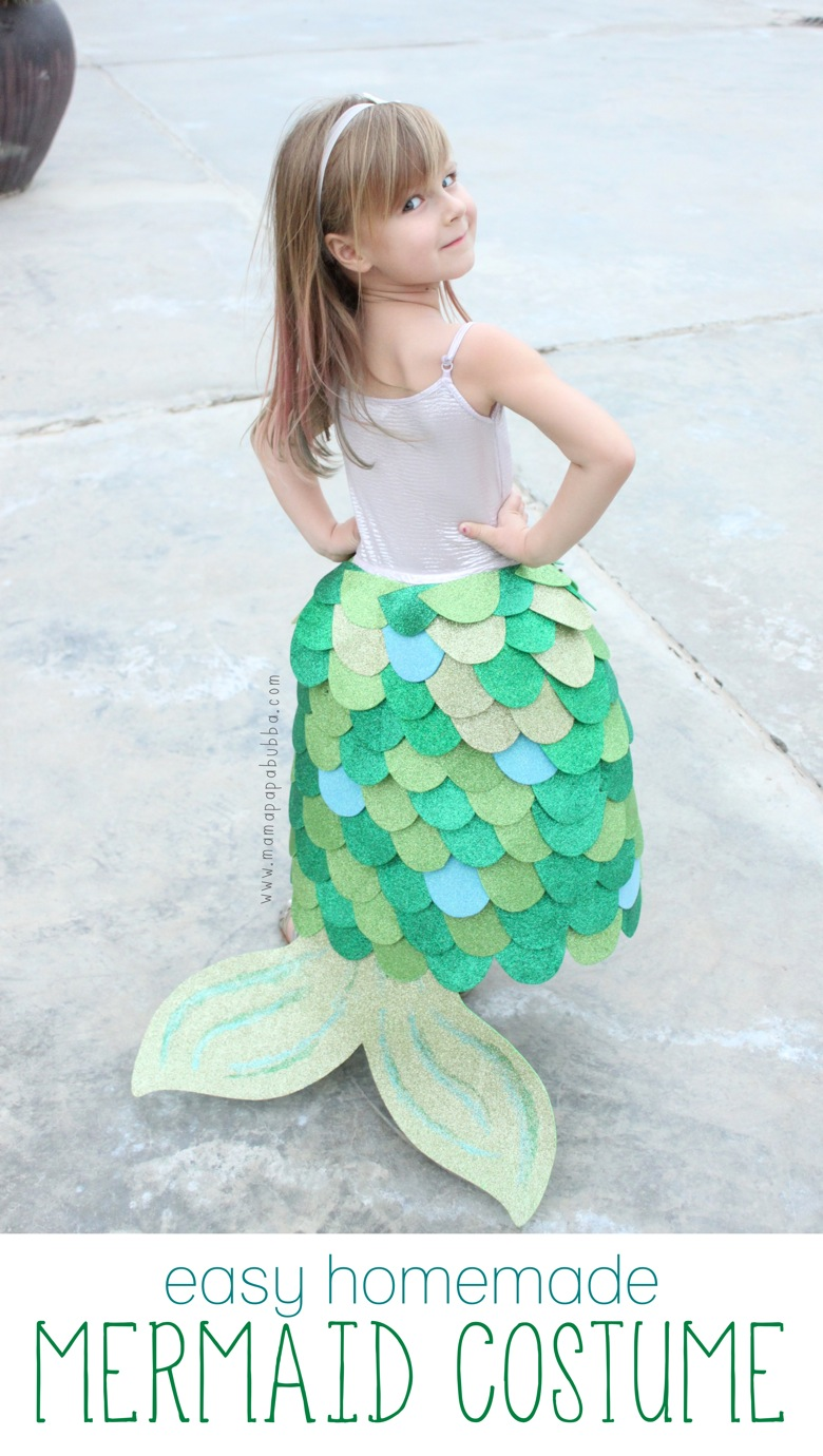 Easy Homemade Mermaid Costume. World book day costume idea