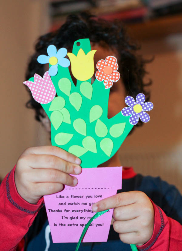 handprint flowerpot craft