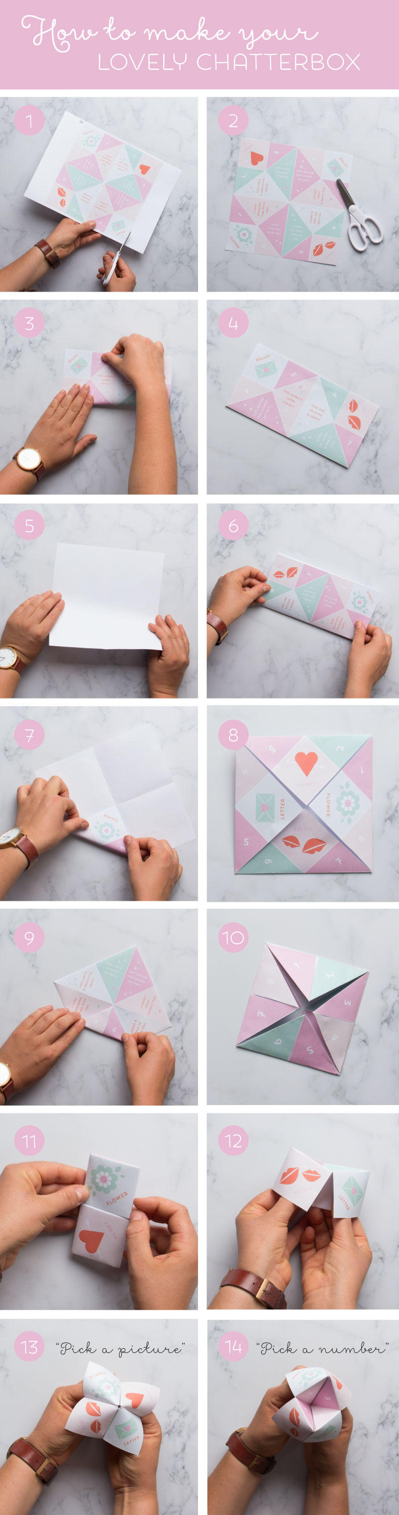 Valentines chatterbox printable in the playroom how to make a chatterbox or paper fortune teller with free valentines themed printable chatterbox pronofoot35fo Images