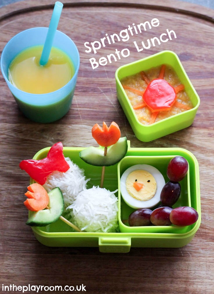 springtime bento lunch for kids, with simple ideas that are easy to make #ad