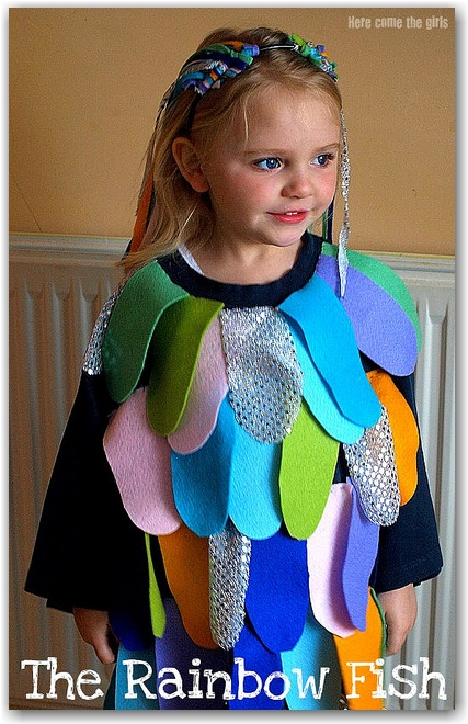Rainbow fish world book day costume idea