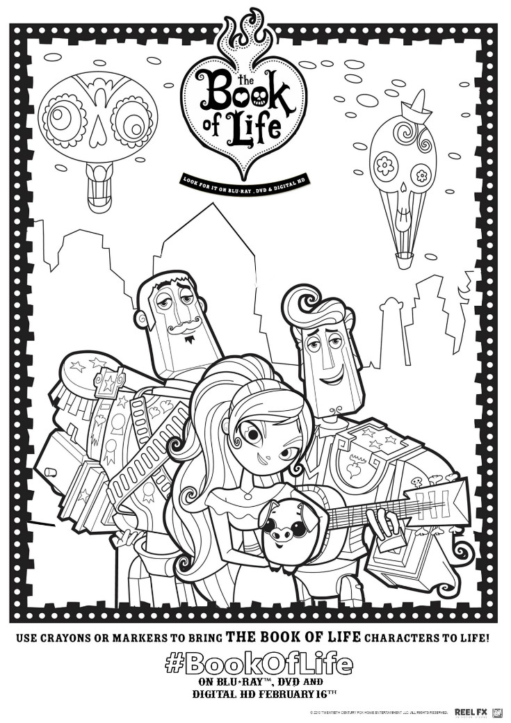 the book of life printable colouring page