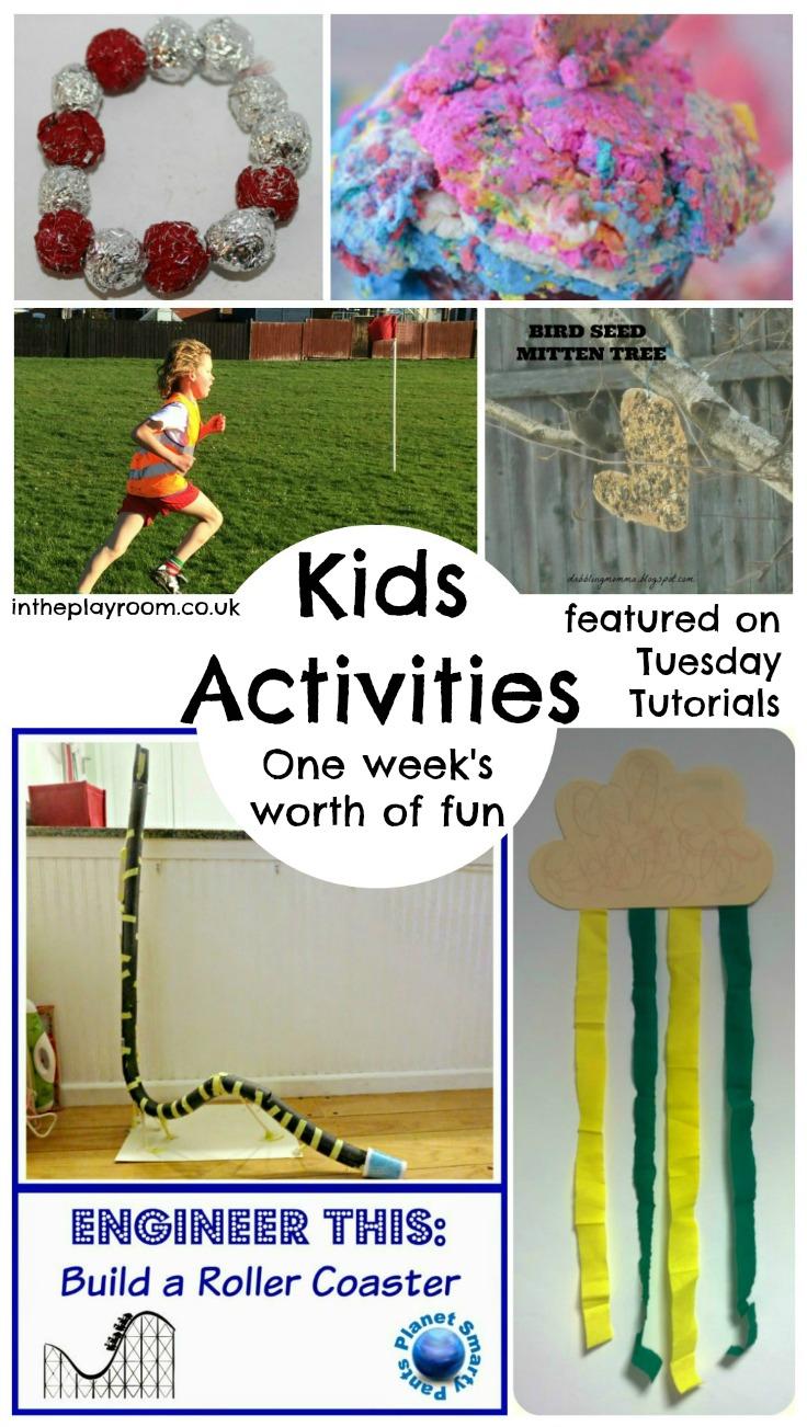 one week's worth of fun kids activities