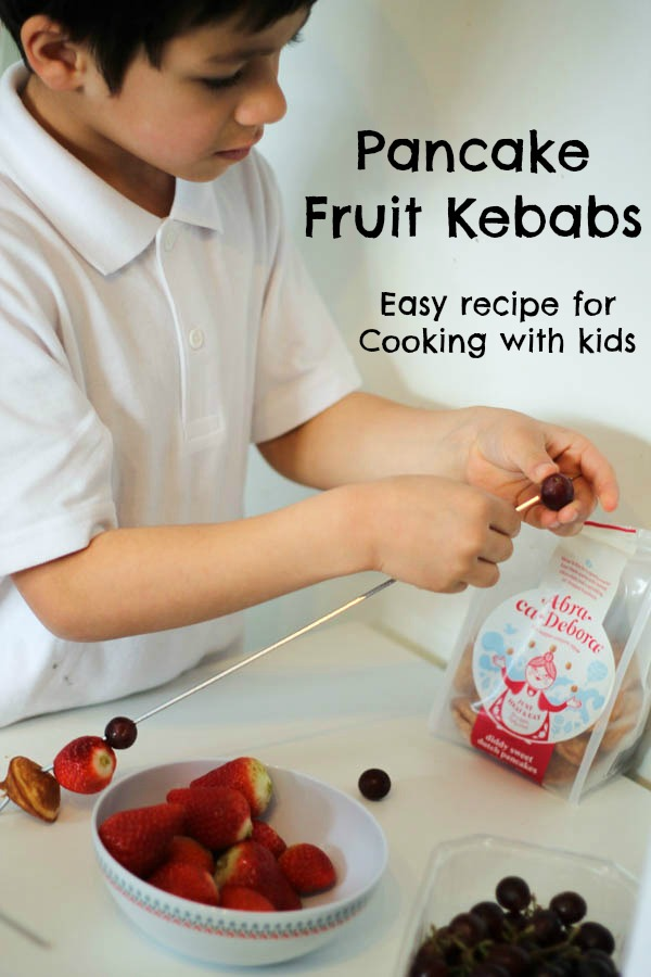 pancake fruit kebabs are one of the simplest things to make with children, so fun and get kids excited about eating more fruit