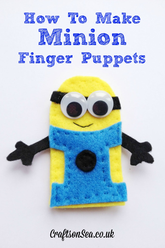 minion finger puppets from crafts on sea