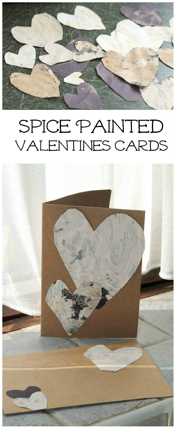 Spice painted scented Valentines cards
