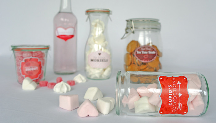 valentines day printable food labels for diy food gifts