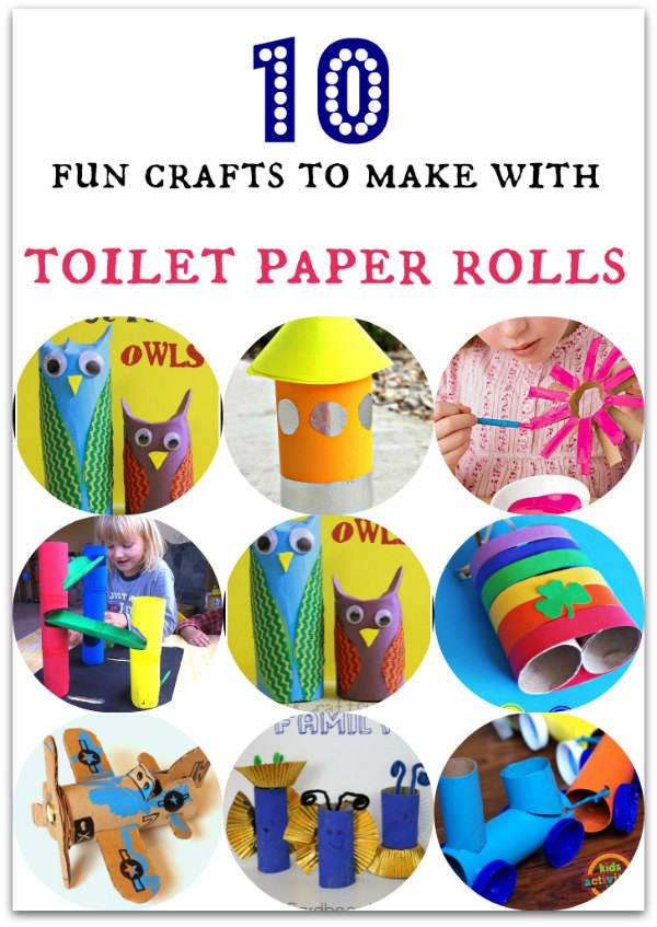 10 fun crafts to make with toilet paper rolls