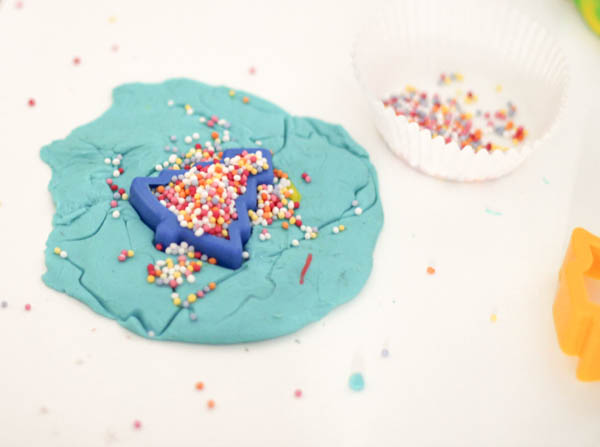 sprinkles with playdough