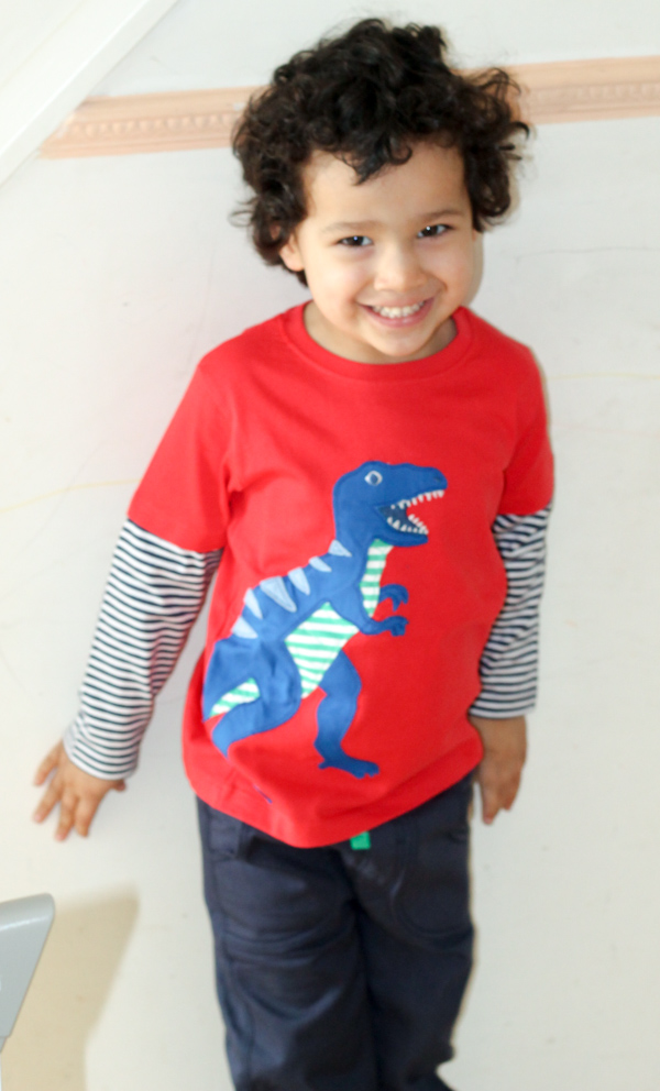 lilly and sid dinosaur top
