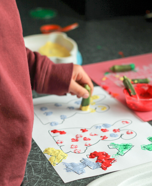 okra stamping paint activity