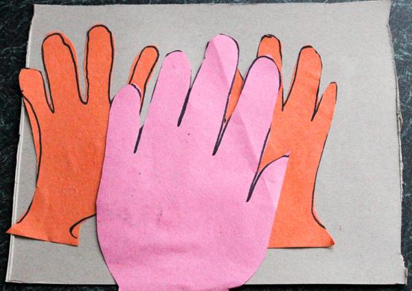 comparing hand prints parent to child