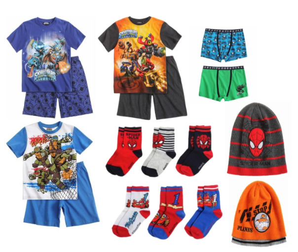 skylanders PJs and other character clothing from Lamaloli