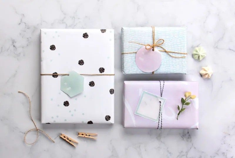 free printable wrapping paper in pretty pastel designs