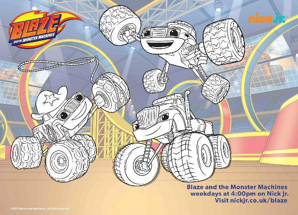 Blaze And The Monster Machines Colouring Pages And Twitter